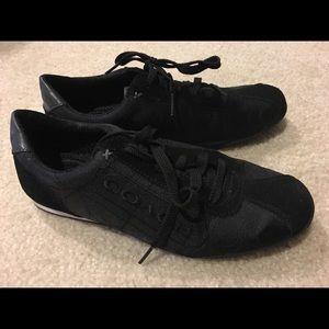 Signature Black Coach Tennis Shoes